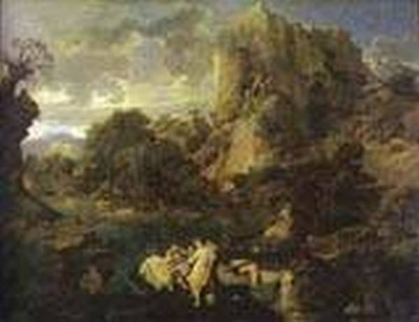 Landscape with hercules and cacus 1658 1659 xx moscow tussia